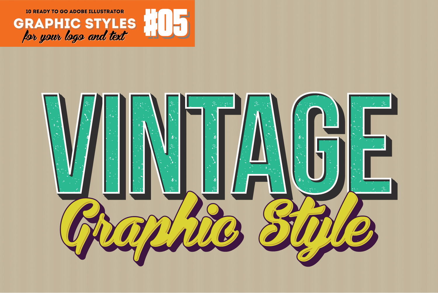 10 Retro Vintage Style for Adobe Illustrator example image 1