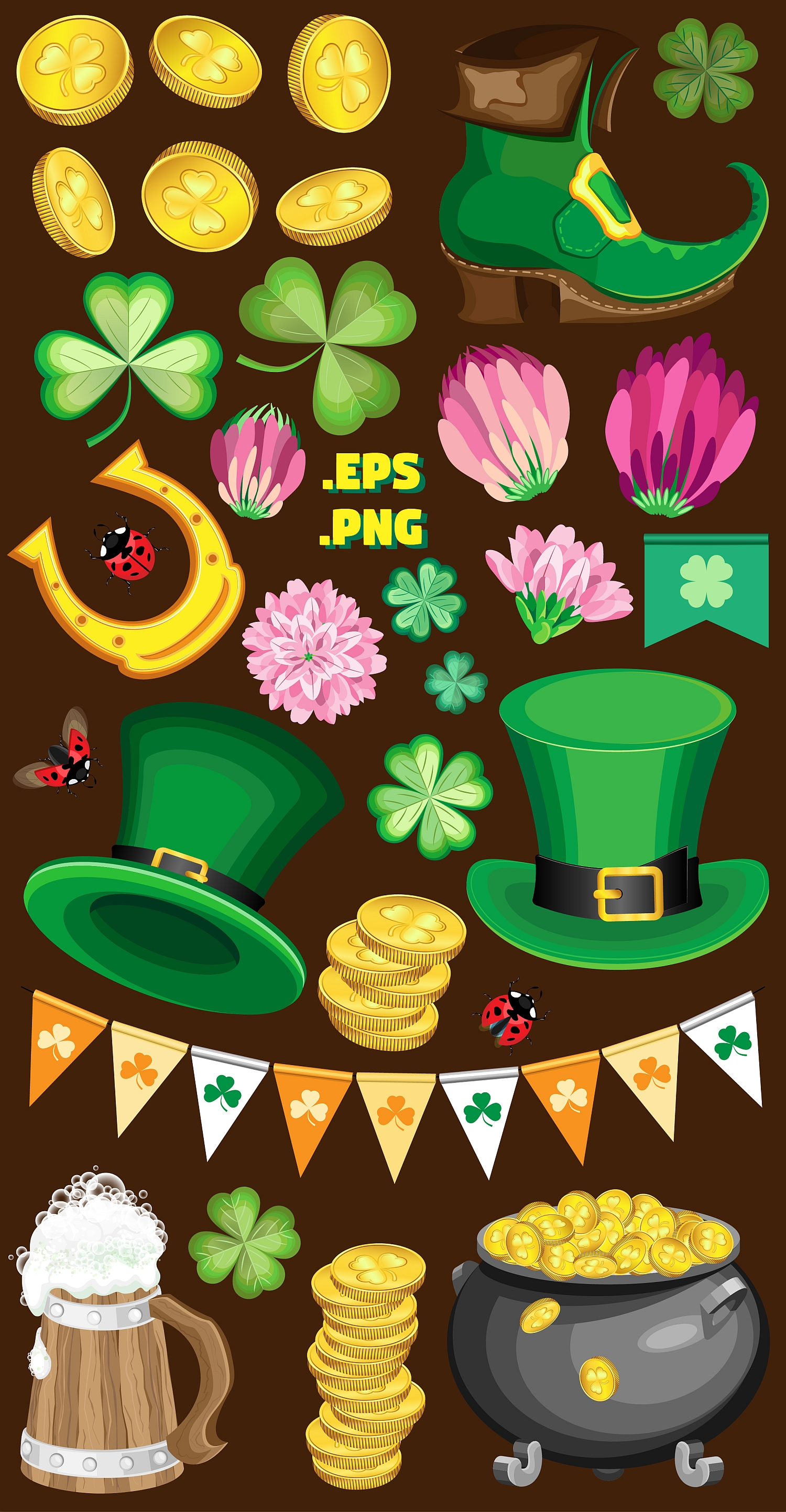 Set of elements for the st. Patrick`s Day example image 5