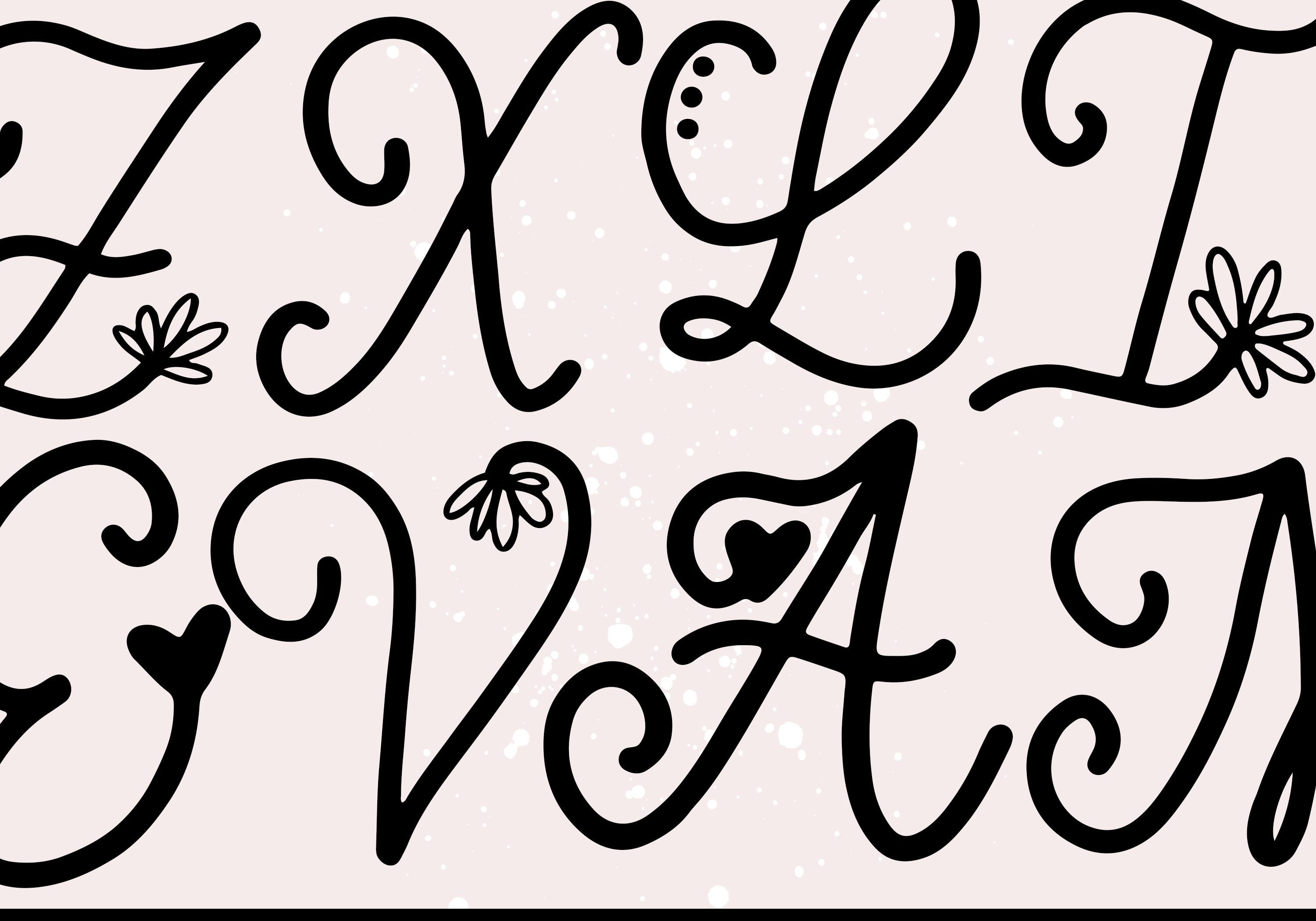 Handwritten Monogram Font - Four Styles example image 16