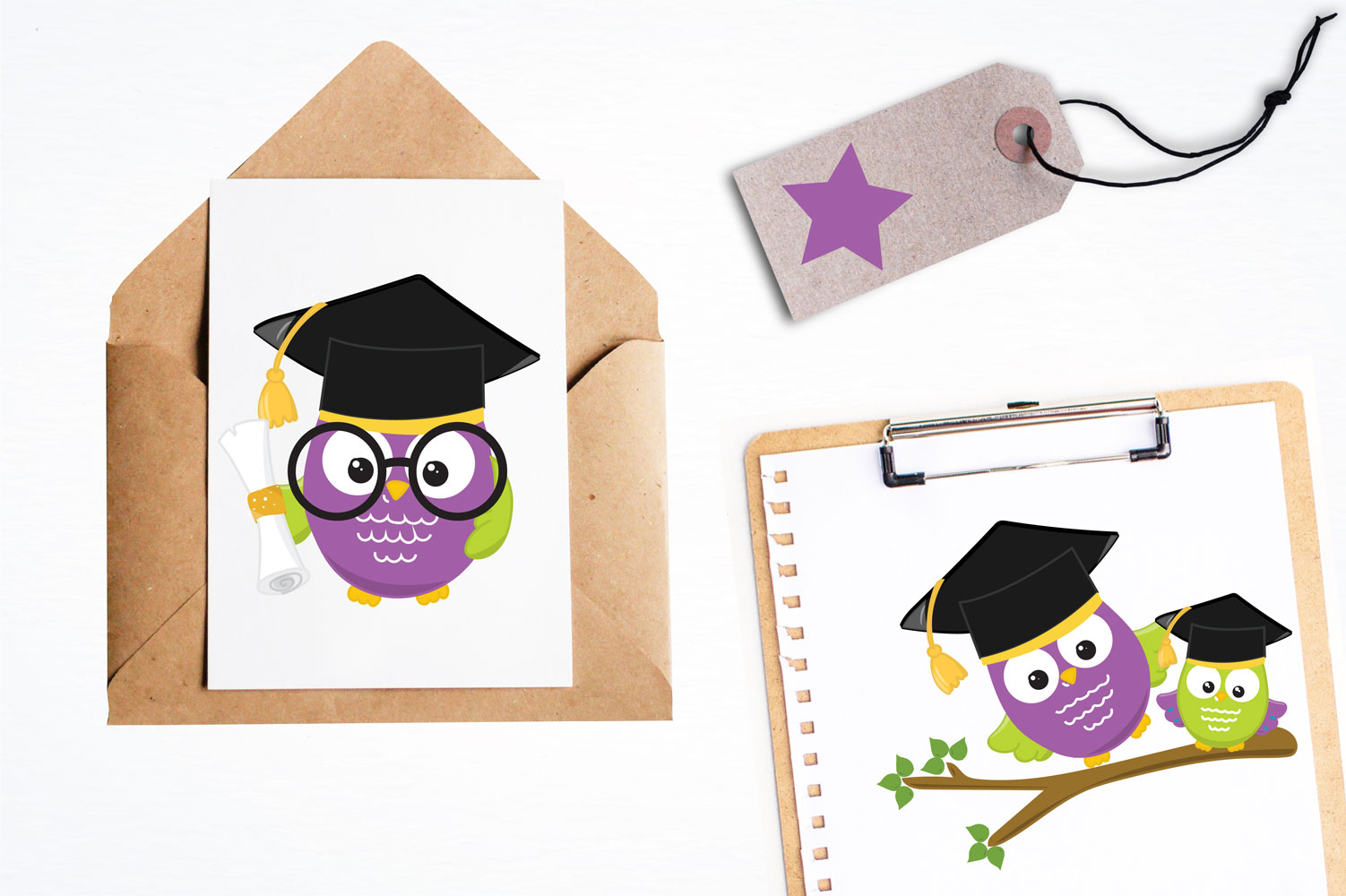 Graduation Owls Cute Graphics example image 4