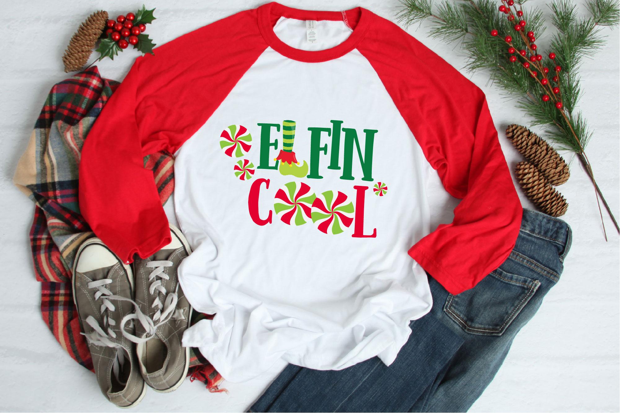 Christmas Elf Bundle, Elf SVG Sublimation, Elfin Cool SVG example image 4