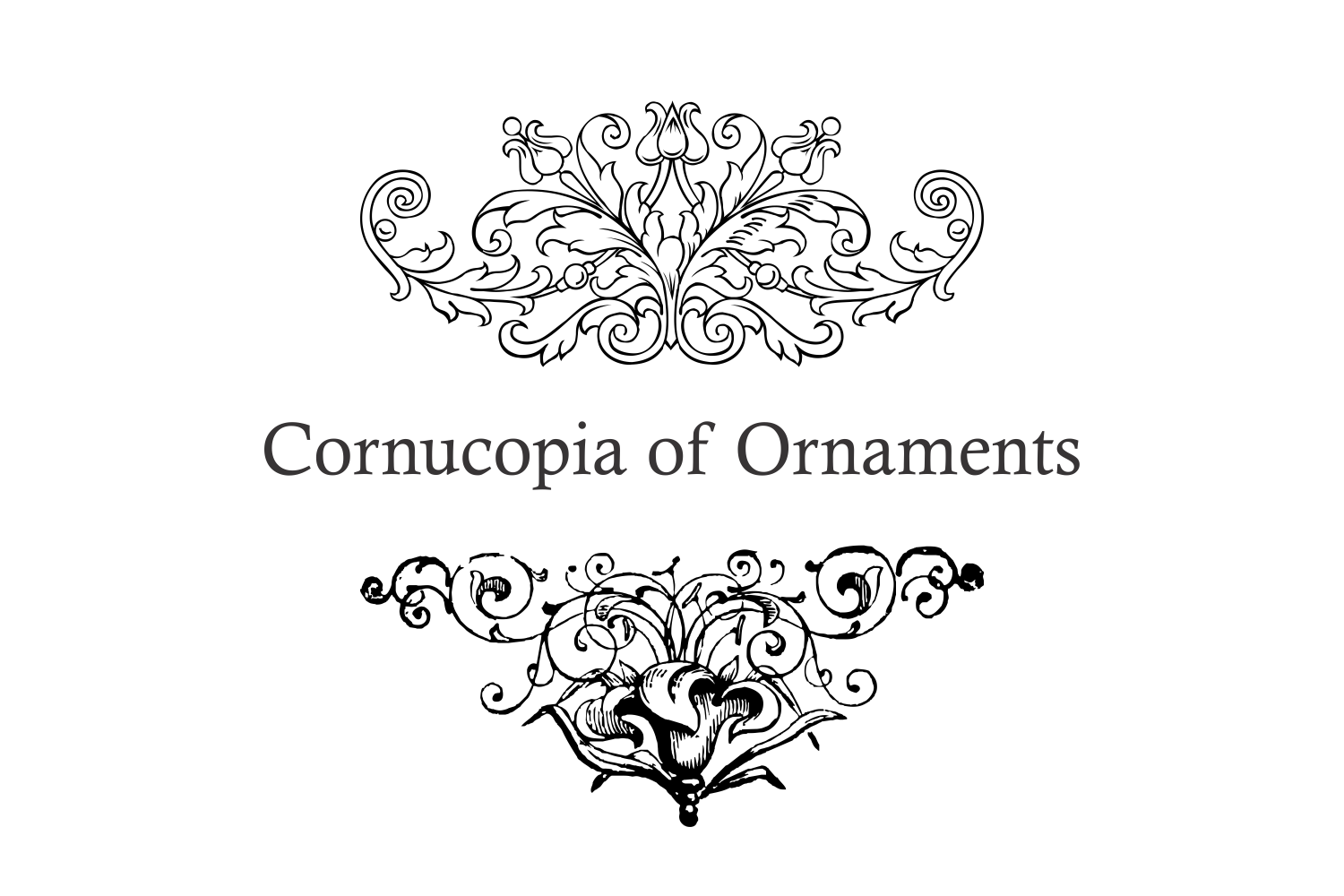 Cornucopia of Ornaments example image 2