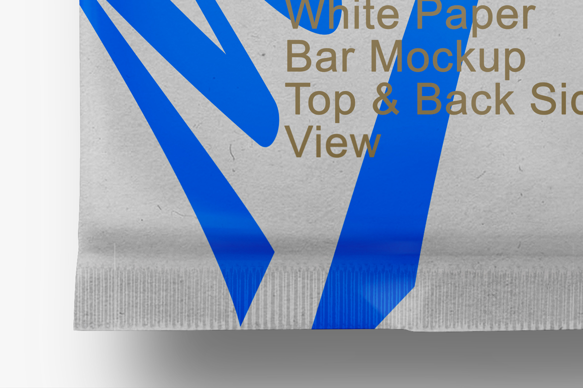 White Paper Bar Mockup Top & Back Side View example image 4
