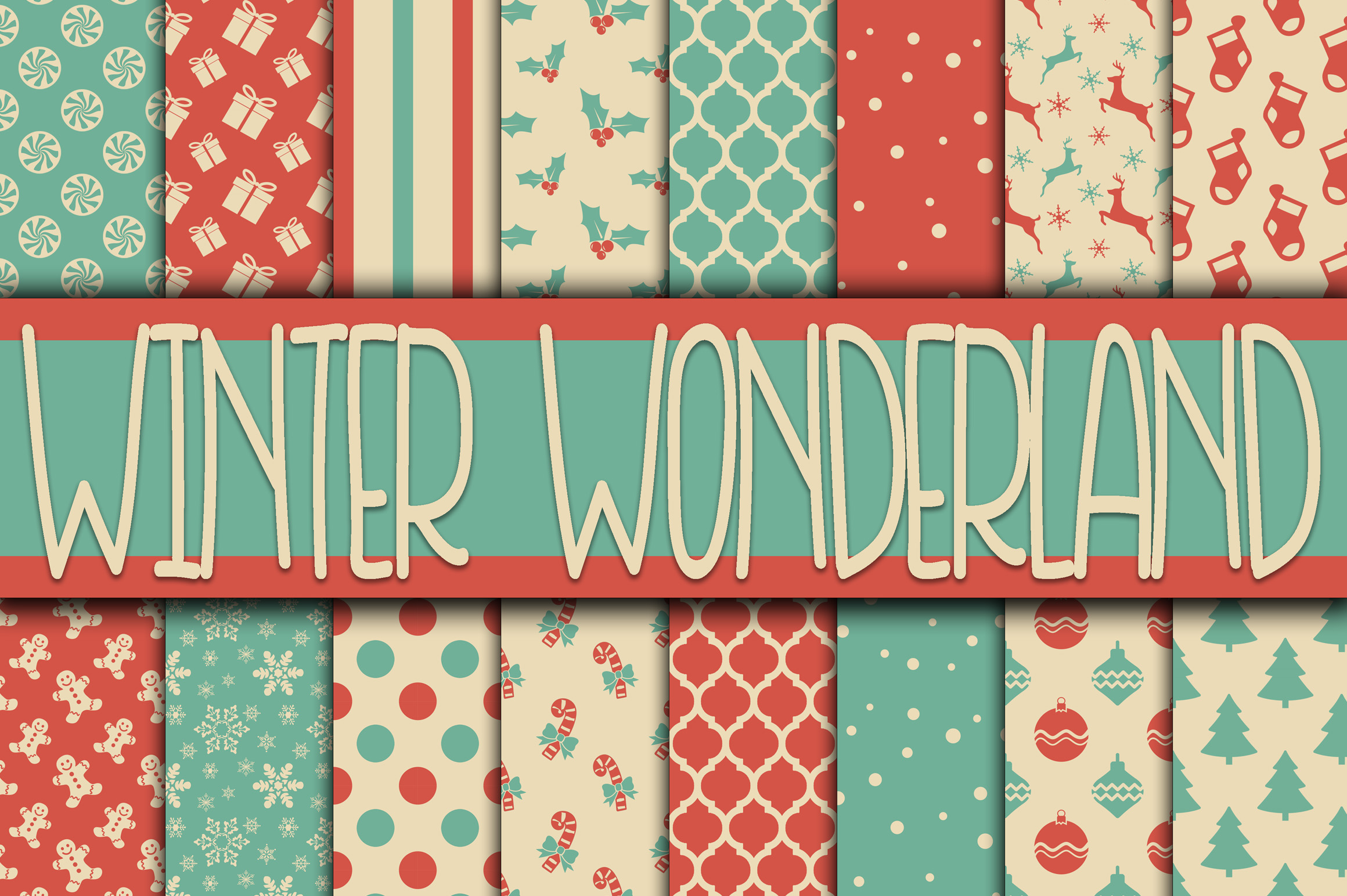 Christmas Bundle - Includes Over 200 Digital Papers example image 12