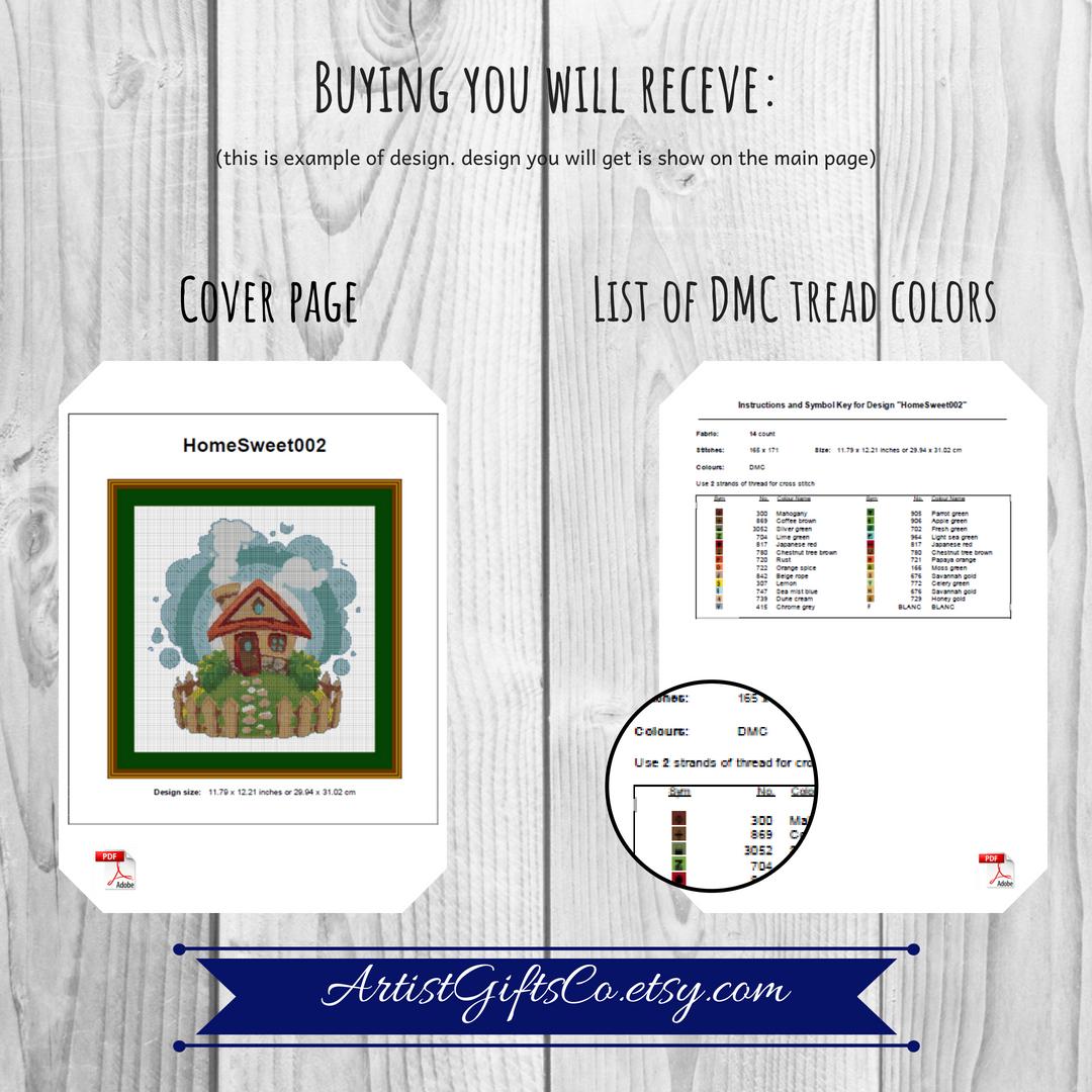 Zodiac Capricorn Cross Stitch pattern PDF, Astronomy Stitch example image 3