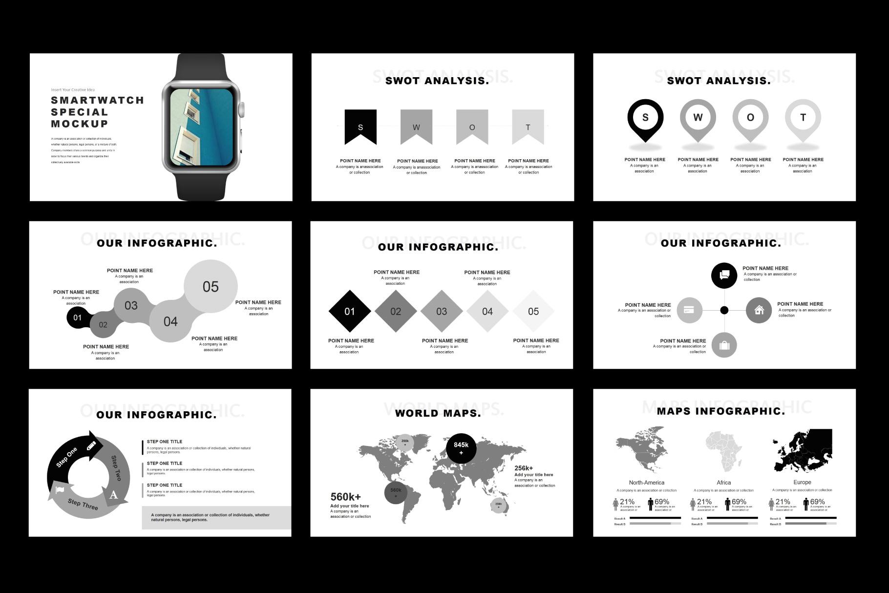 Tuxedo Minimal PowerPoint Templates example image 9