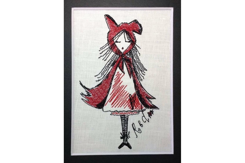 Unique Machine Embroidery Design  'Red'  example image 2