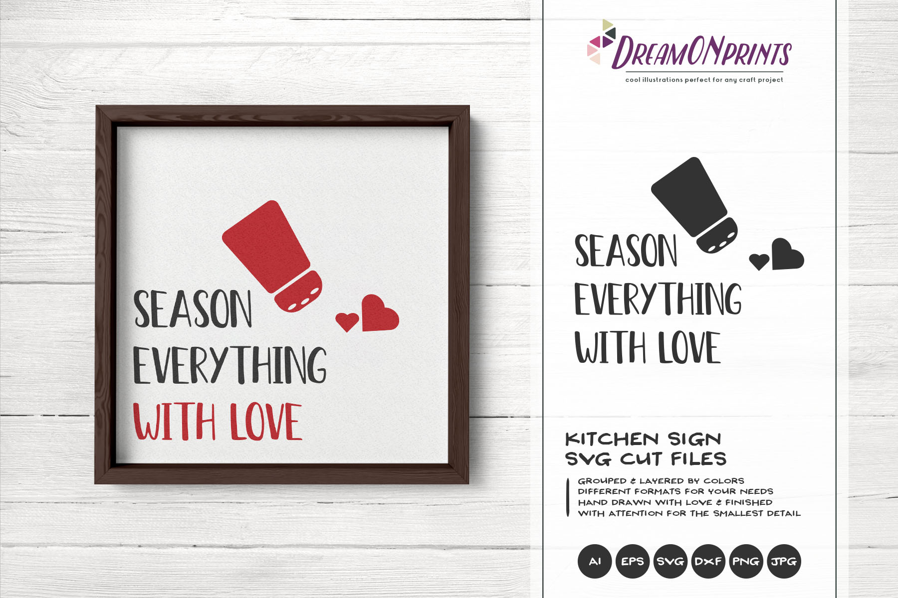 Kitchen SVG Season Everything with Love example image 1