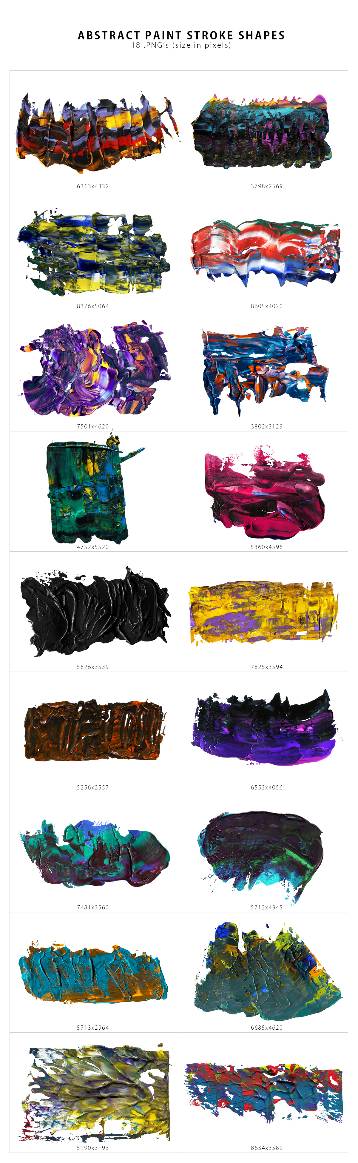 Abstract Paint Shapes example image 6