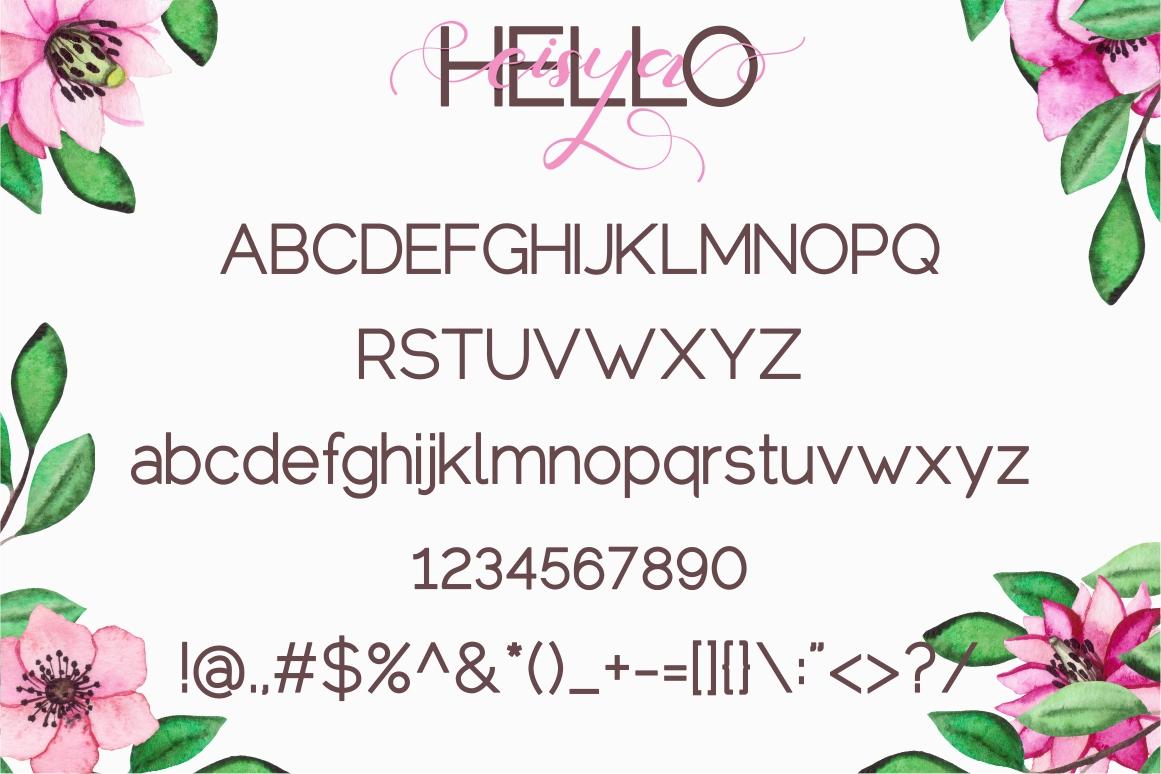 Hello Eisya - Font Duo example image 8