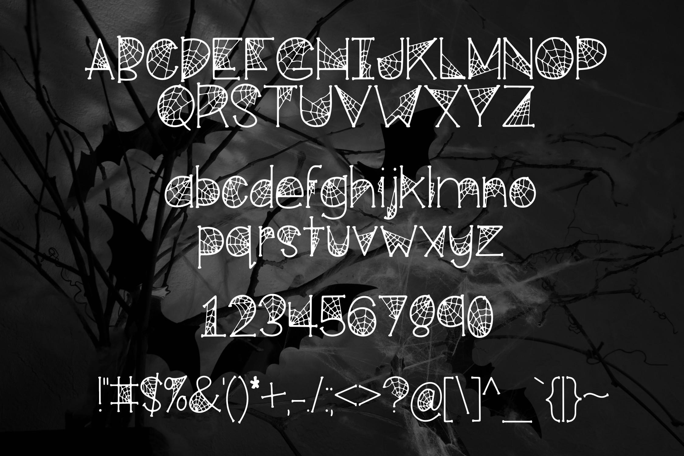 Cobwebs a Spooktacular Font example image 2