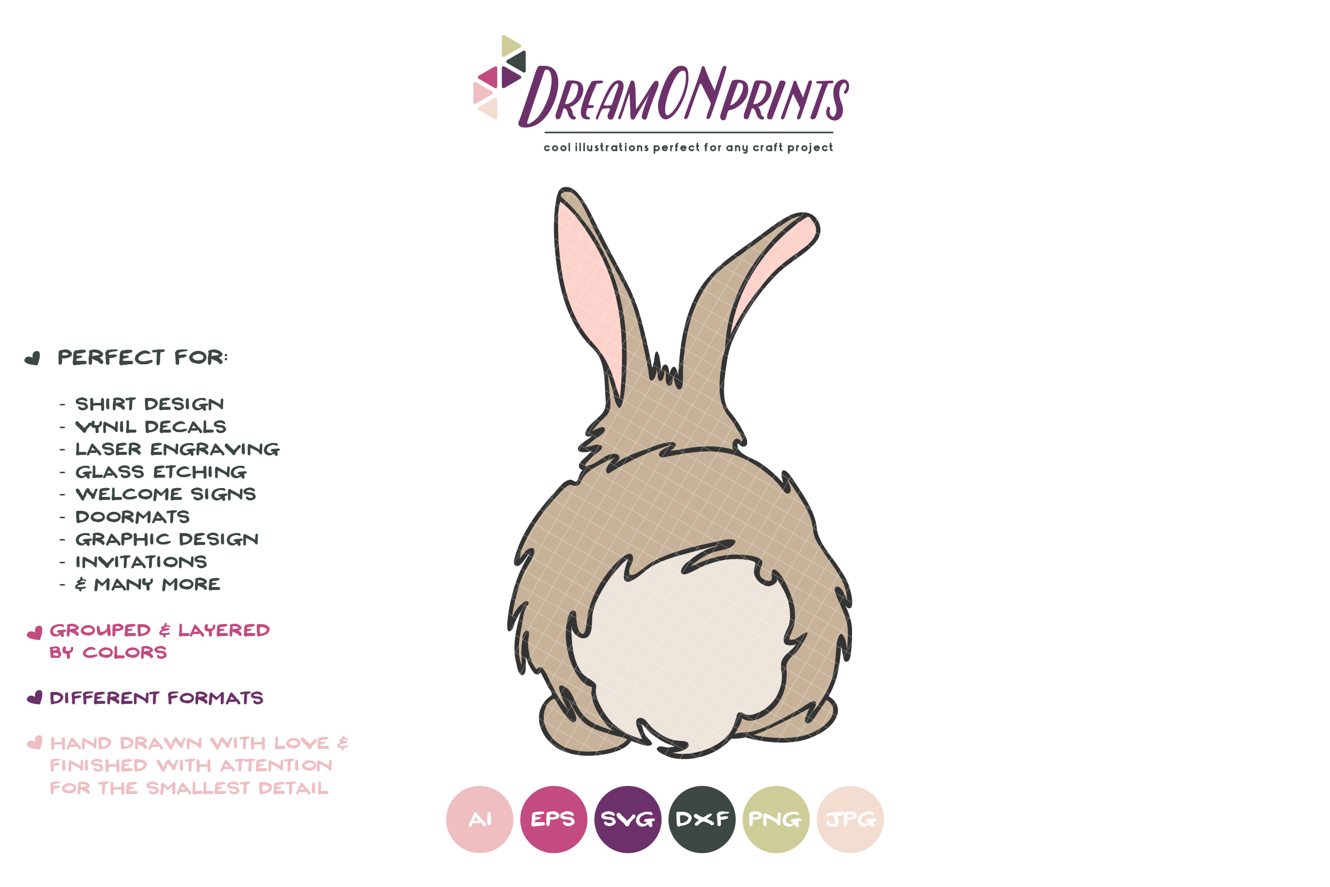 Bunny Butt SVG - Easter SVG Cut File, Rabbit SVG example image 2