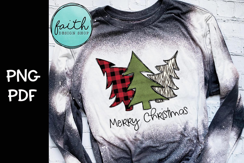 Merry Christmas Trees, buffalo plaid, zebra print example image 1
