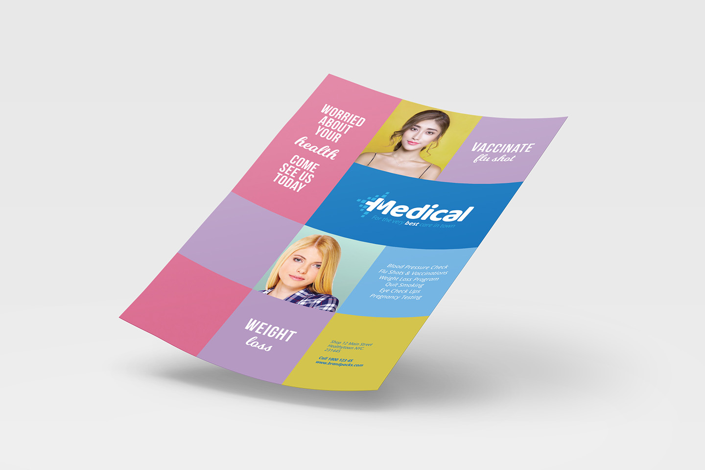 A4 Modern Medical Advertisement Template example image 3