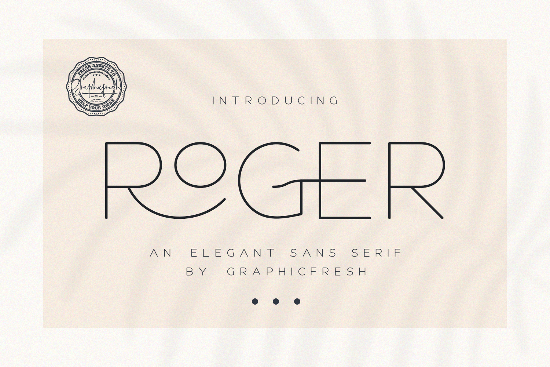 Roger - An Elegant Sans Serif example image 1