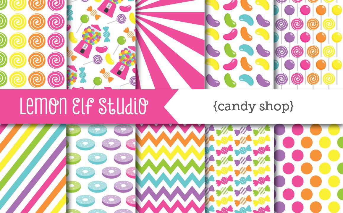 Candy Shop-Digital Paper (LES.CL05B) example image 1