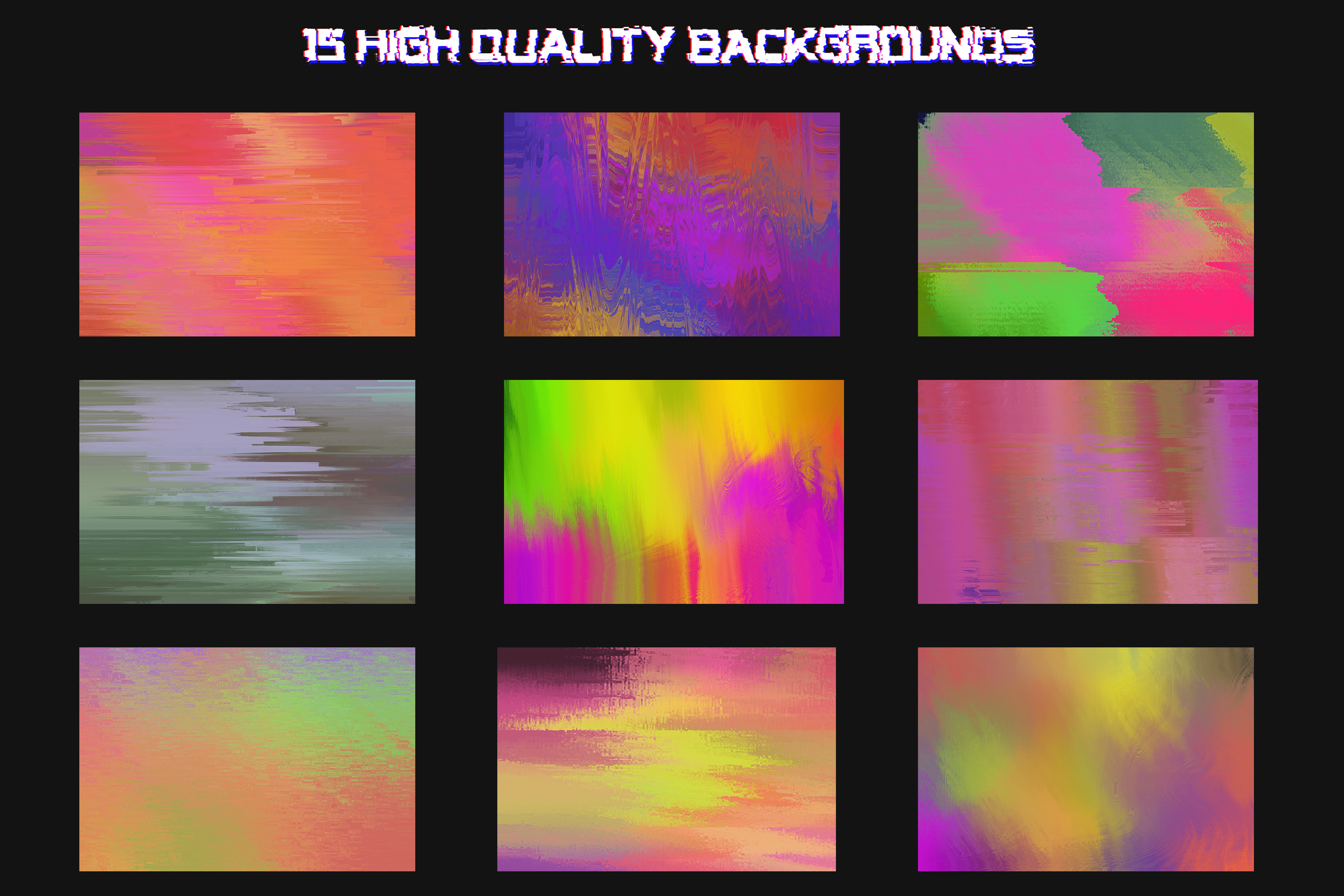 Corrupted - 15 Glitched Backgrounds Pack example image 2
