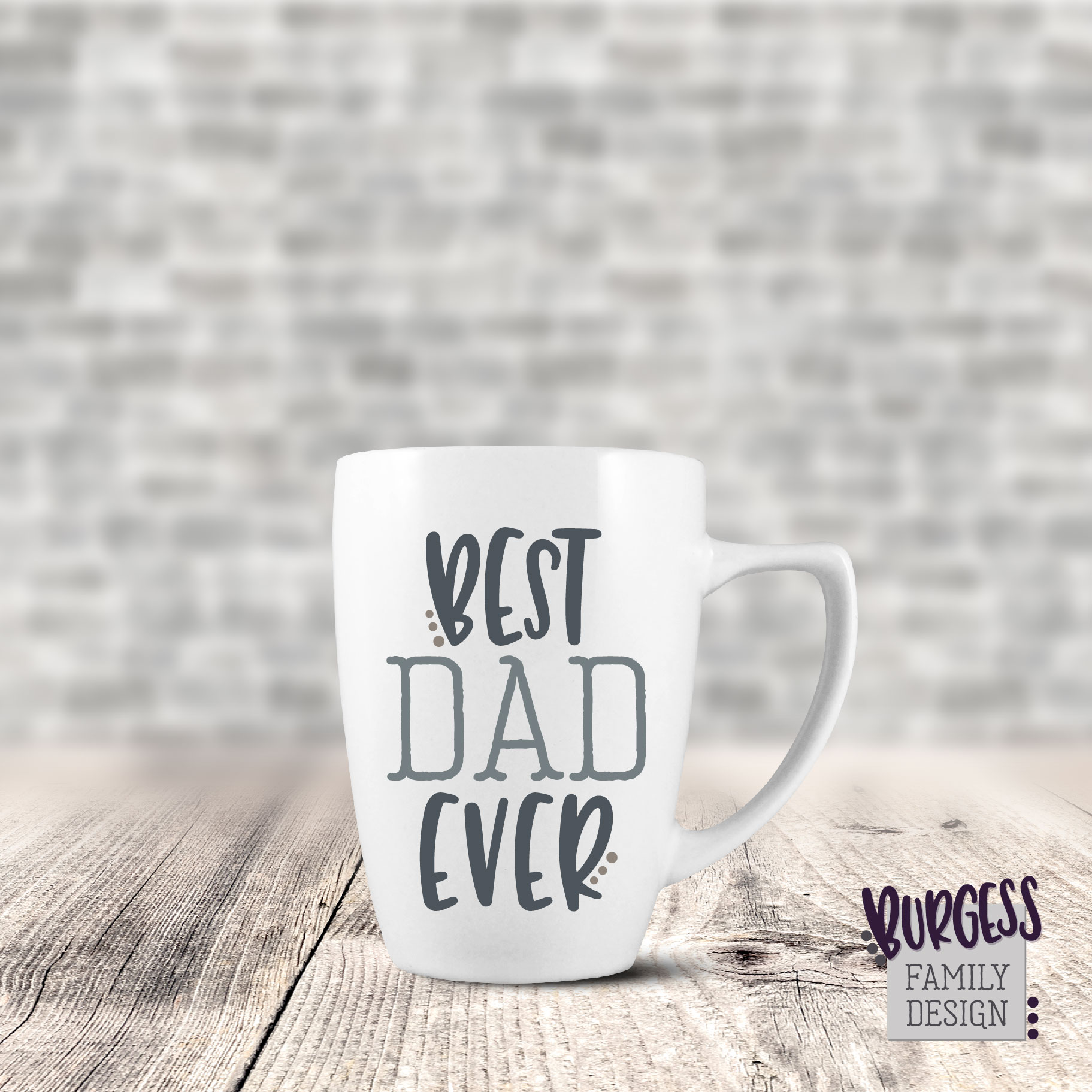 Best dad ever | SVG DXF EPS PNG example image 3