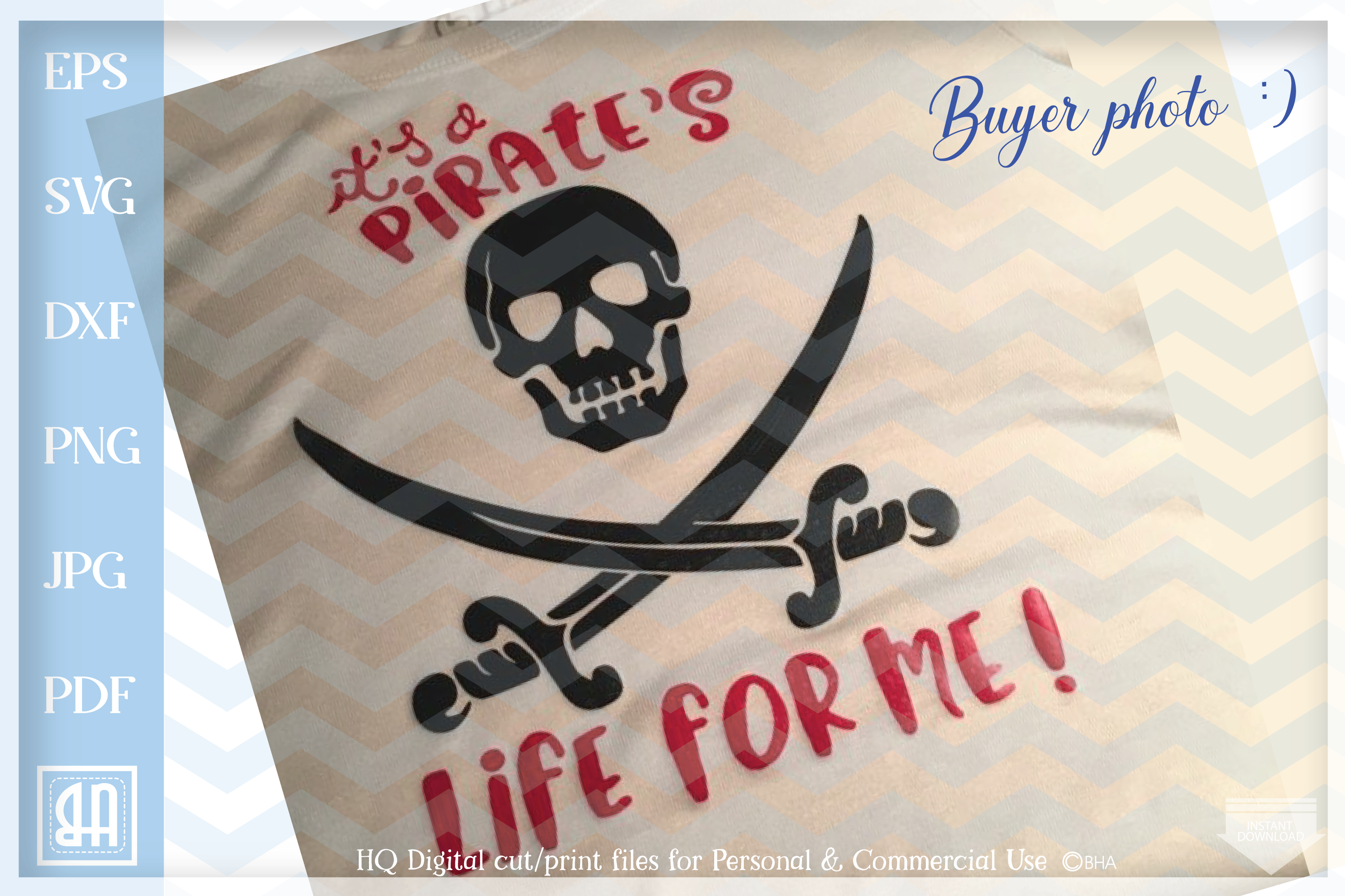 It's a Pirate's life for me SVG -Pirate life svg digital - example image 3
