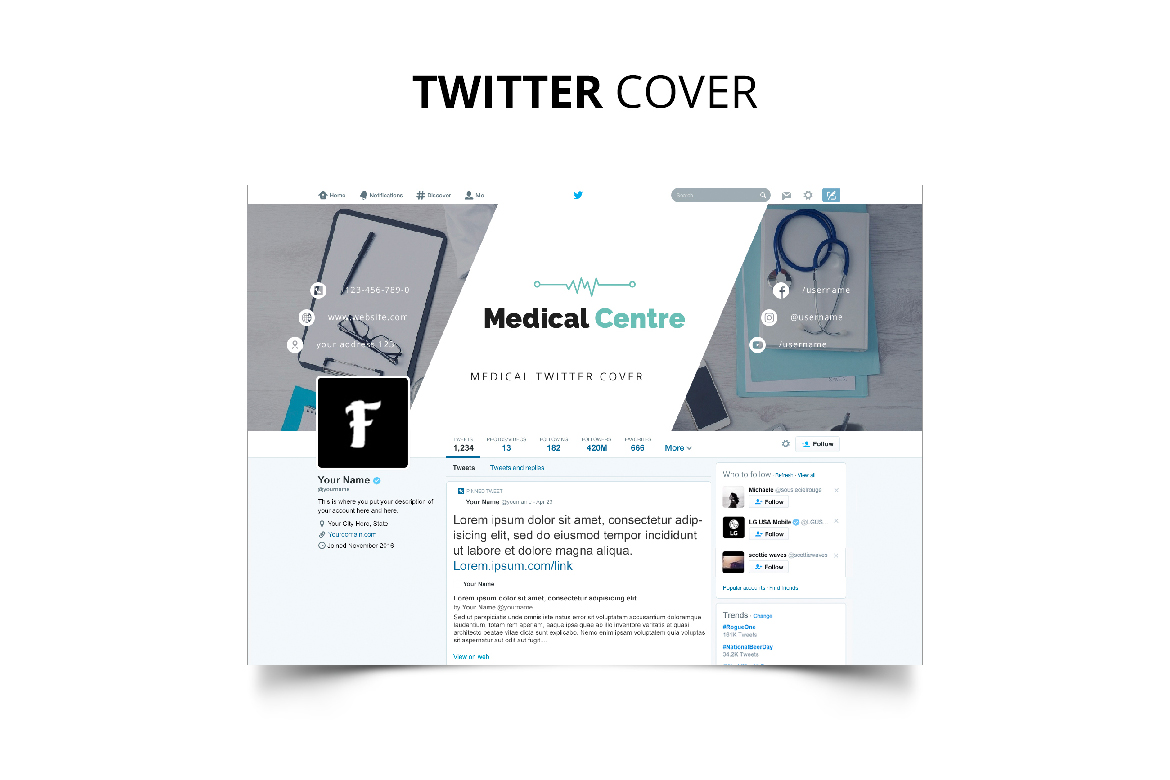 Medical Centre Social Media Kit example image 13