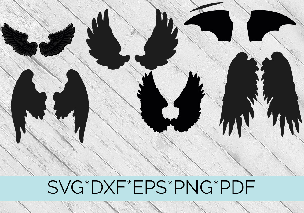40 Sets of Wings Svg Cutting Files example image 2