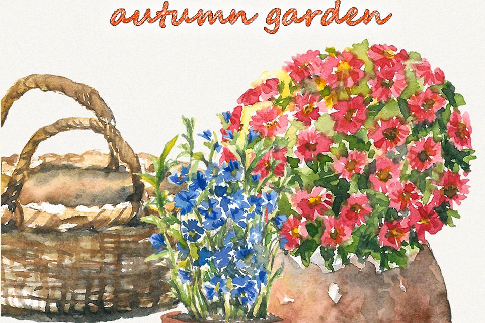 Garden clipart, spring clipart, garden tools, watercolor example image 5