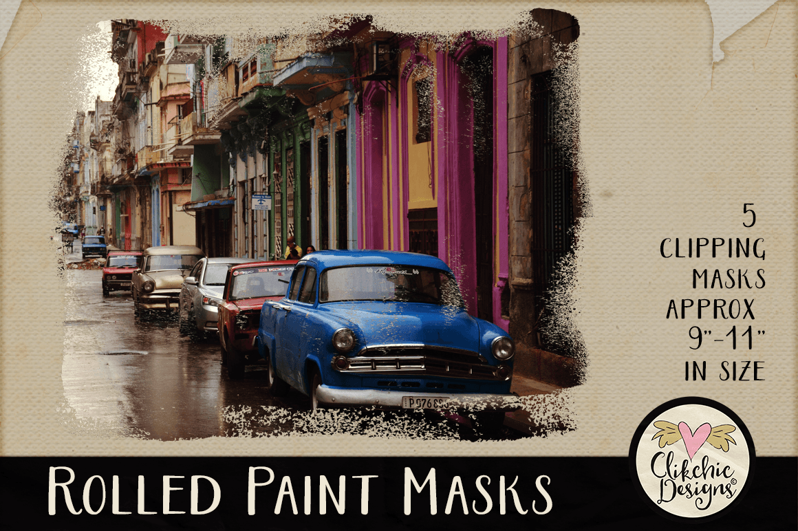 Clipping Masks - Rolled Paint Photoshop Masks & Tutorial example image 3