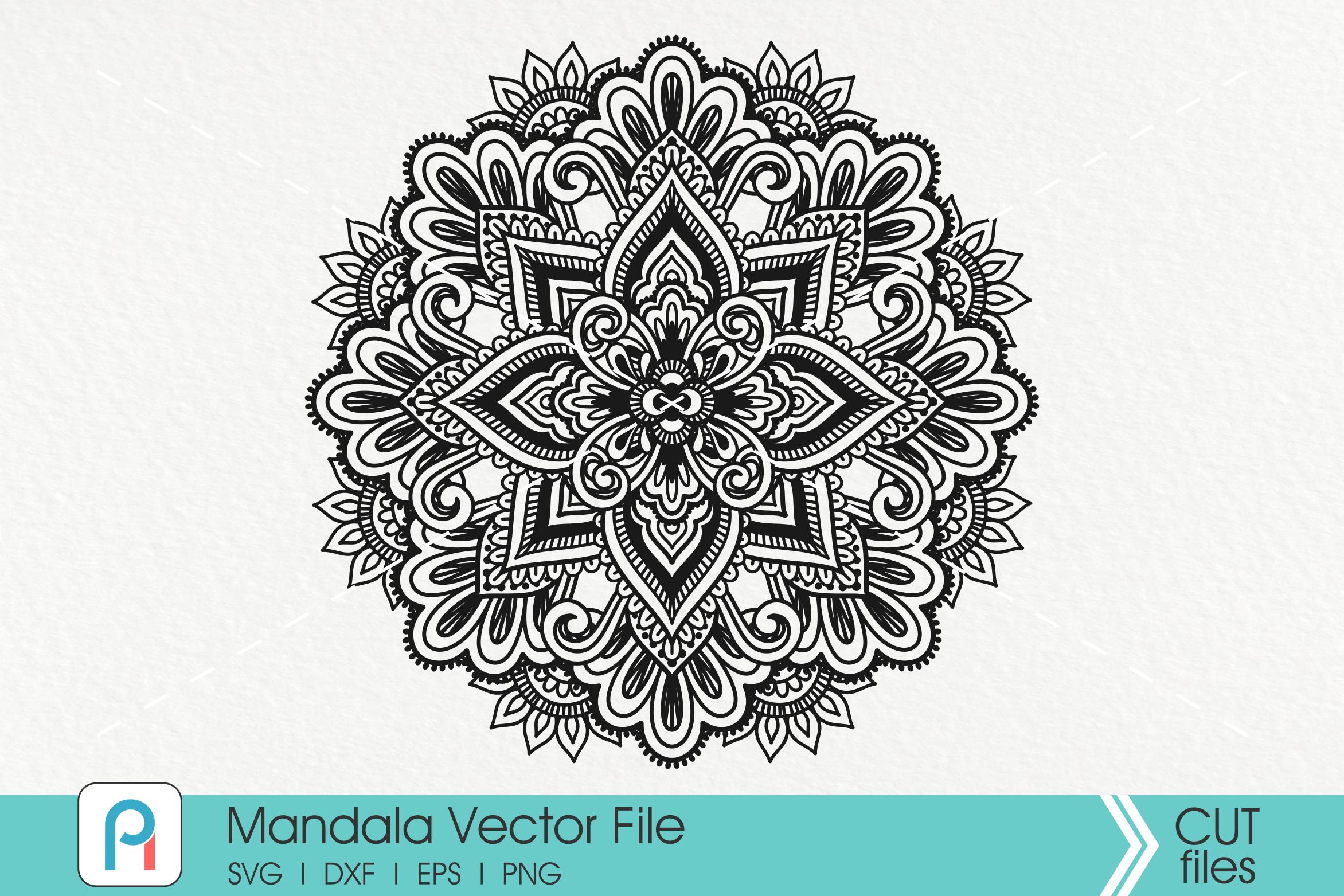 Mandala Svg, Zentangle Svg, Mandala Sunflower Svg, Mandala example image 1