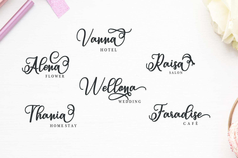 Sabena Script | Sweet Font example image 11