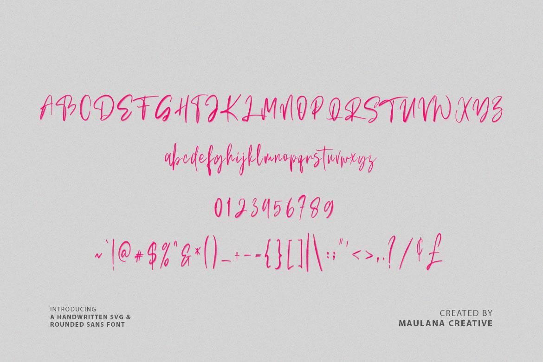 Bellarush SVG Brush Font Free Sans example image 8