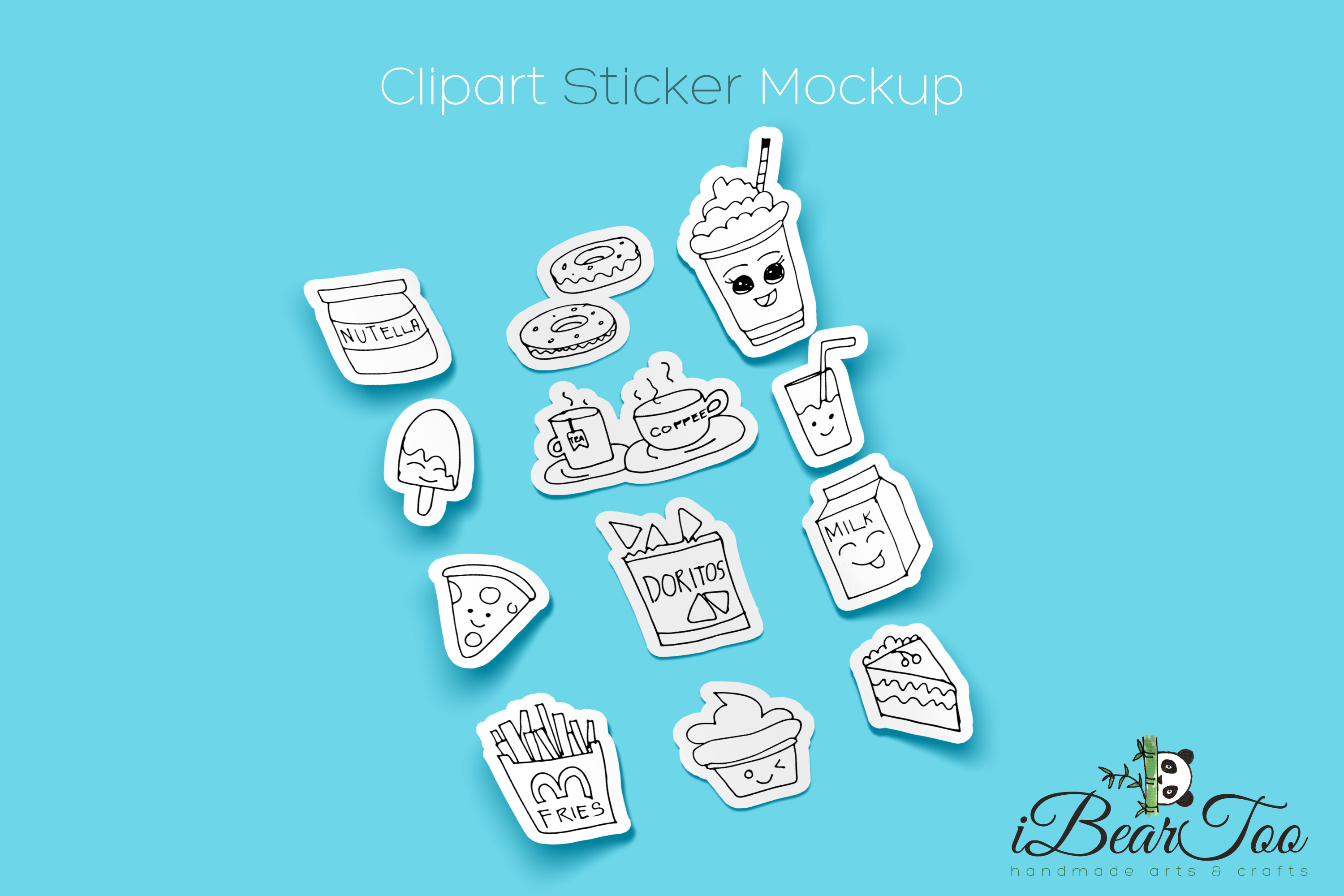 Food SVG Bundle Clipart Doodle Drawing Vector Cut Files example image 2