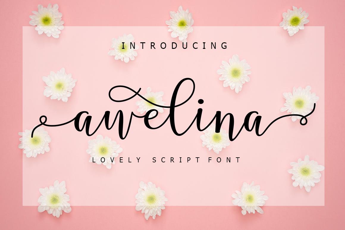 Awelina Script example image 1