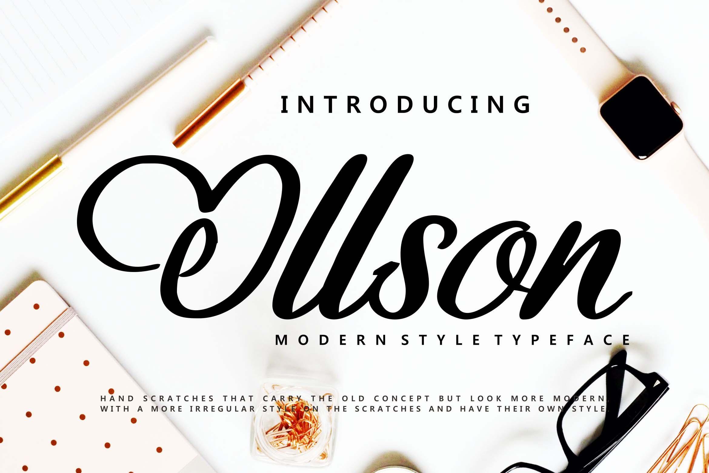 Ollson | Modern Style Typeface example image 1
