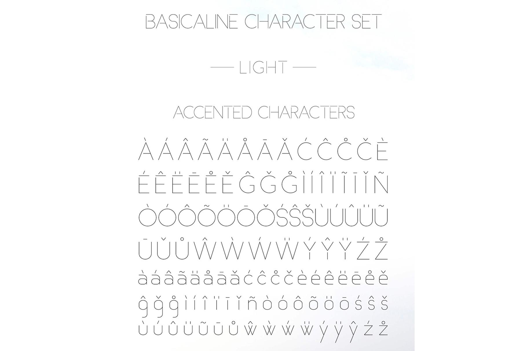 Basicaline Font Family - Sans Serif example image 9