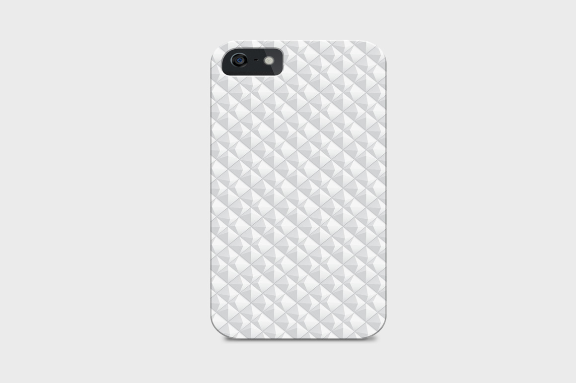 Decorative white seamless textures example image 10