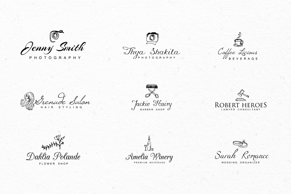 24 Logo Lettering Vintage Style example image 4
