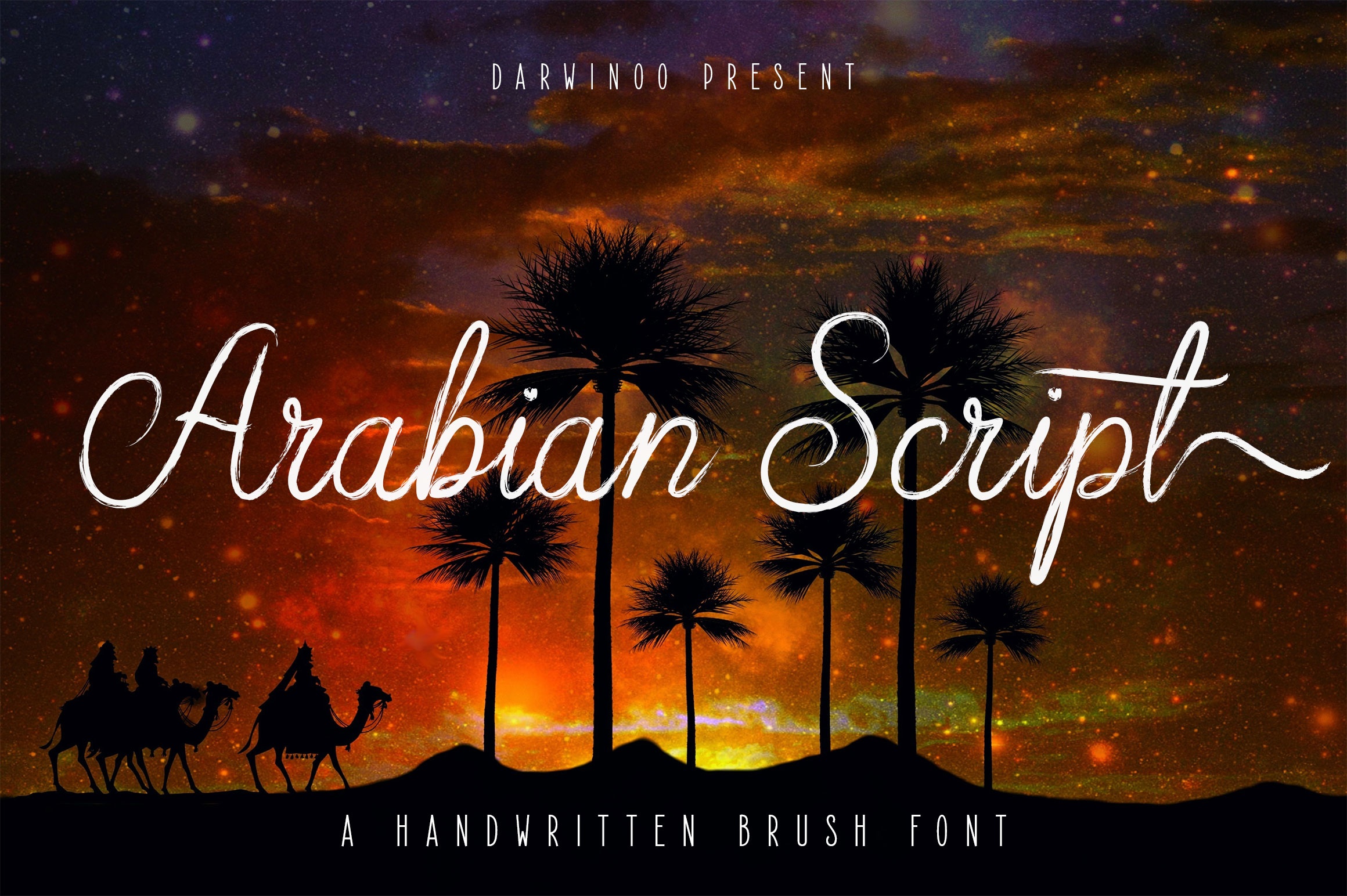Arabian Script | Brush Font example image 1