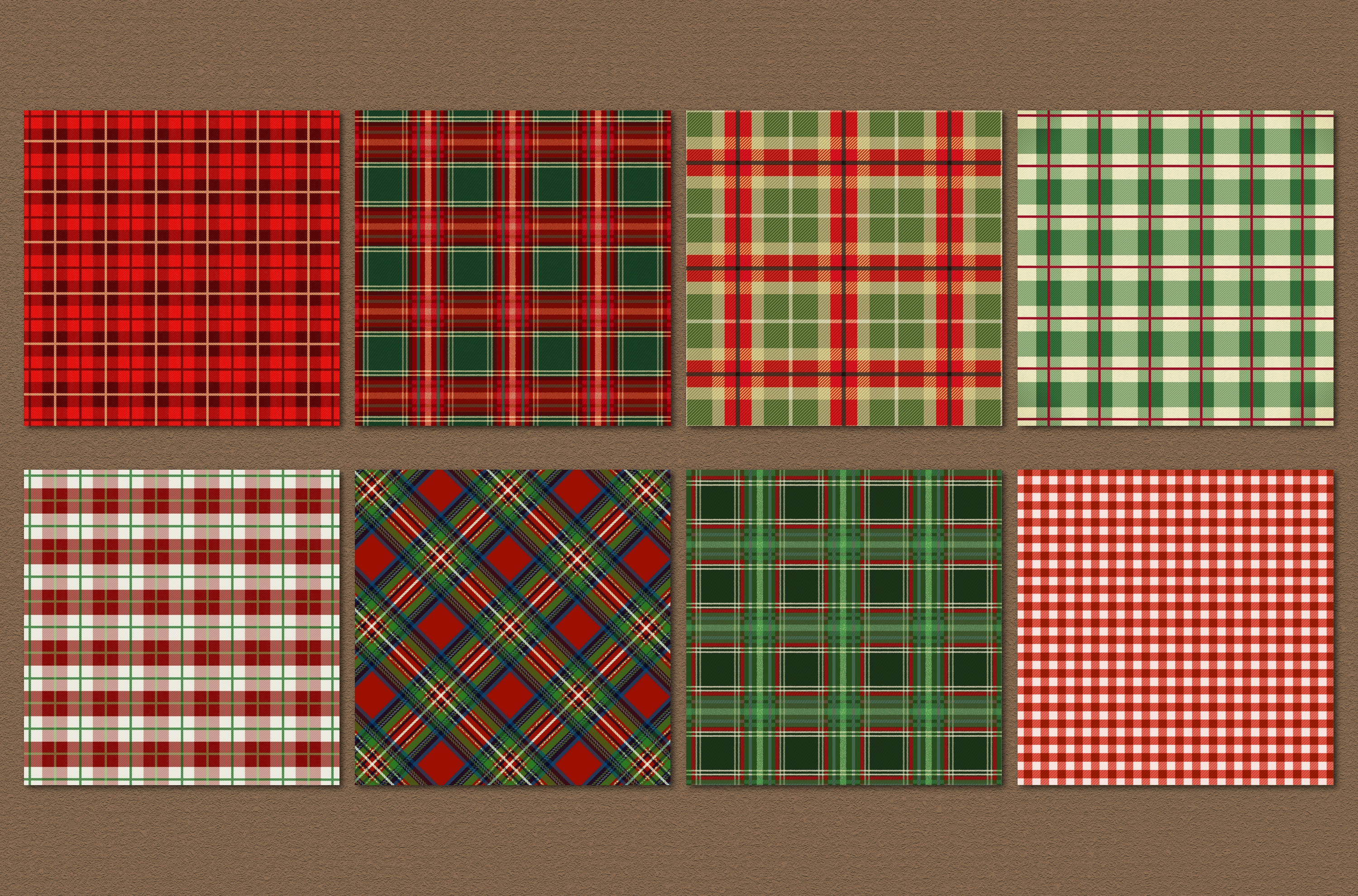 Christmas plaid backgrounds example image 2