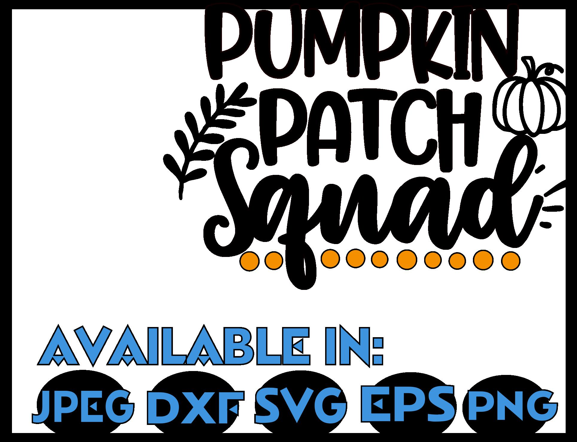 Squad SVG DXF JPEG Silhouette Cricut Halloween pumpkin group example image 3
