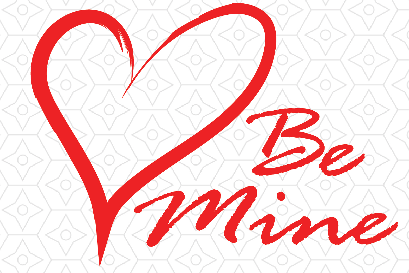 Valentine's Day Be Mine Decal example image 1