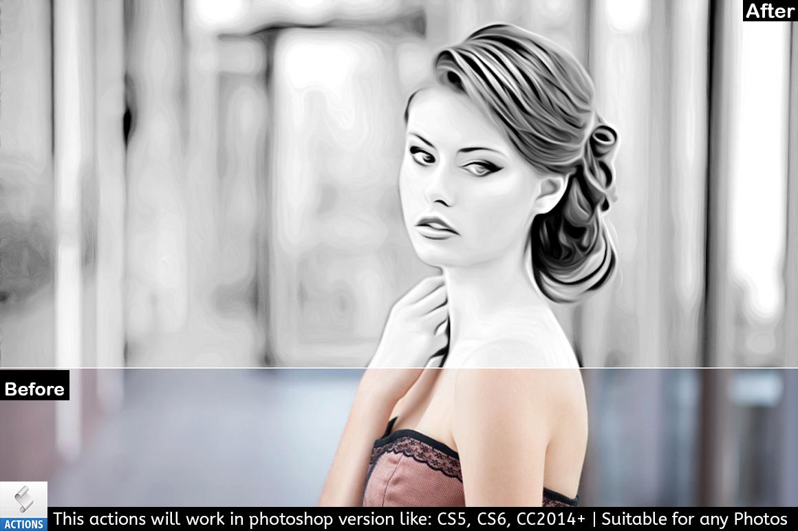 Black & White Photo Painting Effect example image 4