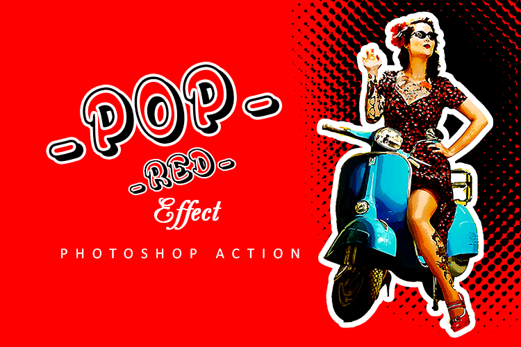 Pop Red Effect Photoshop Action example image 6