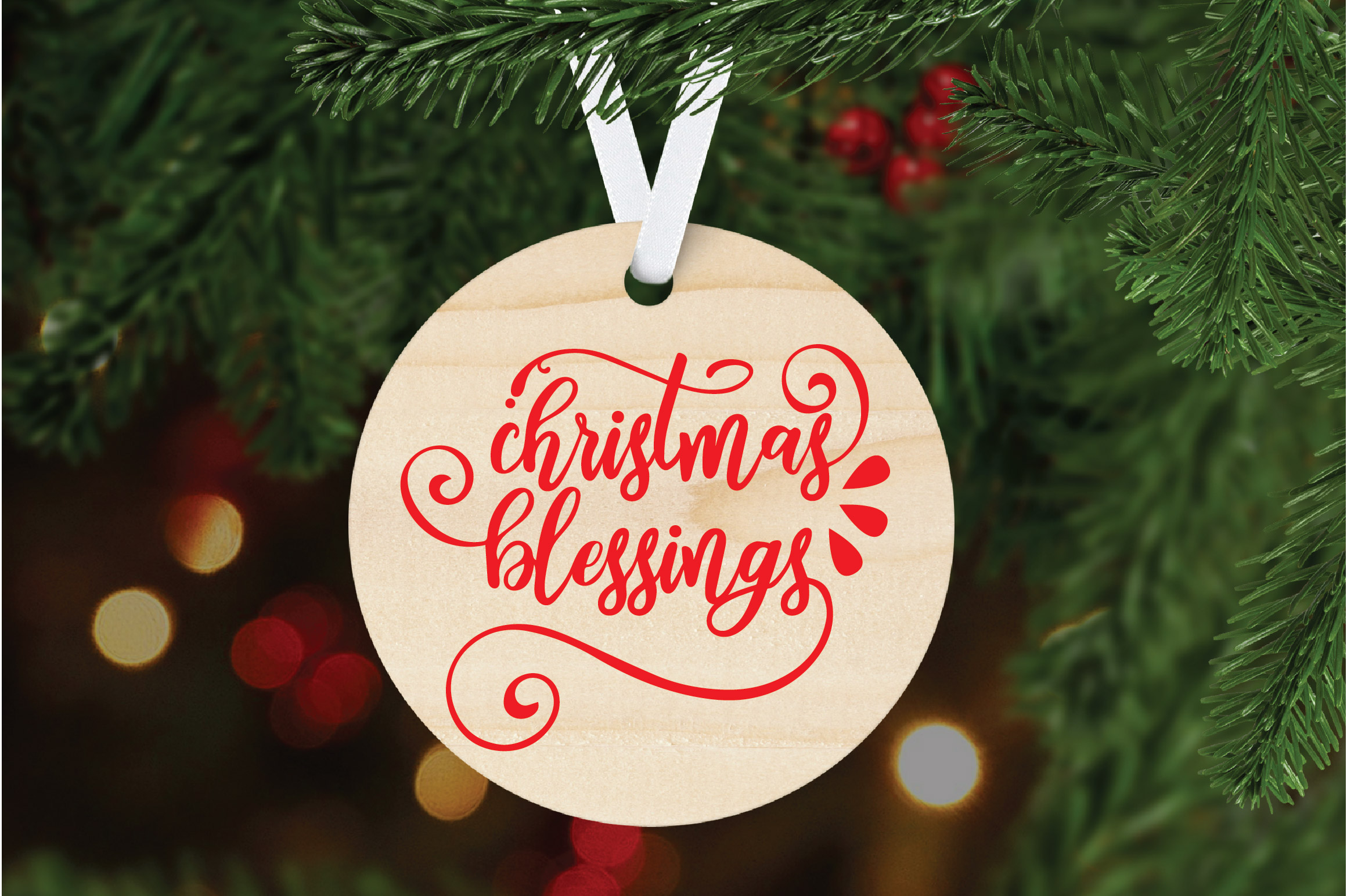 Christmas SVG Cut File - Christmas Blessings SVG DXF PNG EPS example image 6