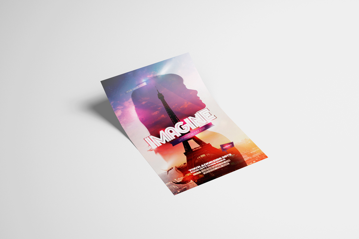 Imagine Flyer Template example image 3