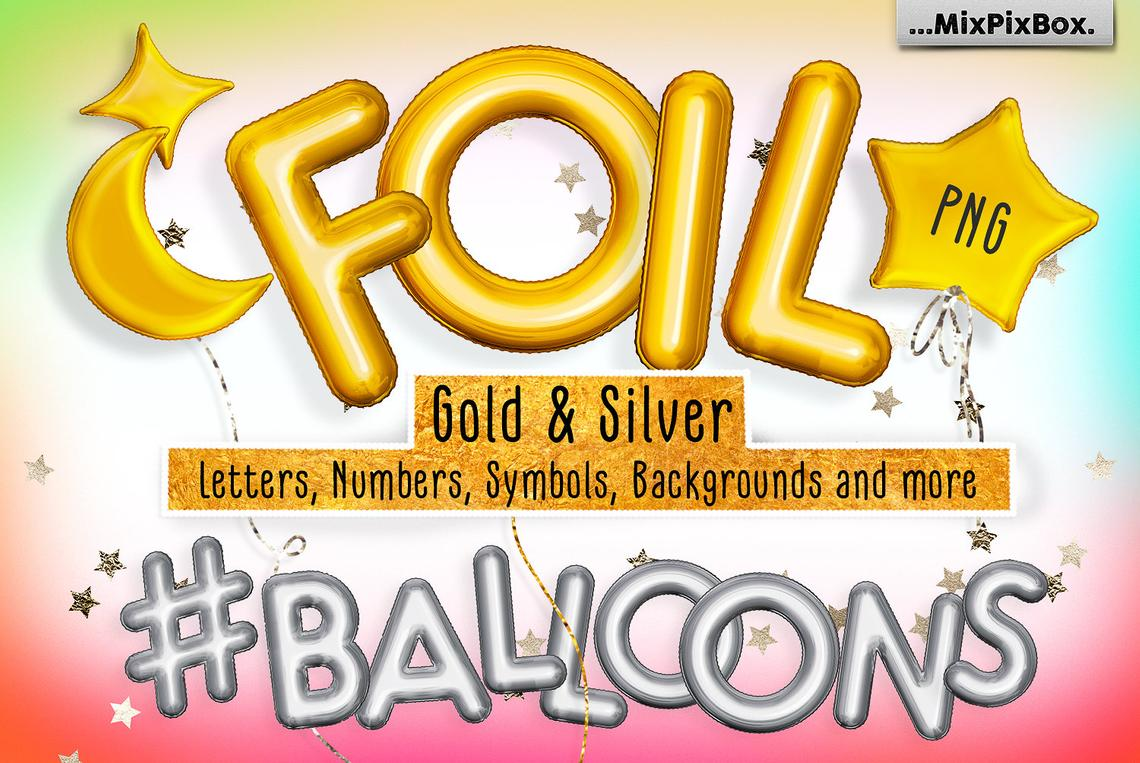 Foil Balloons Overlays example image 1
