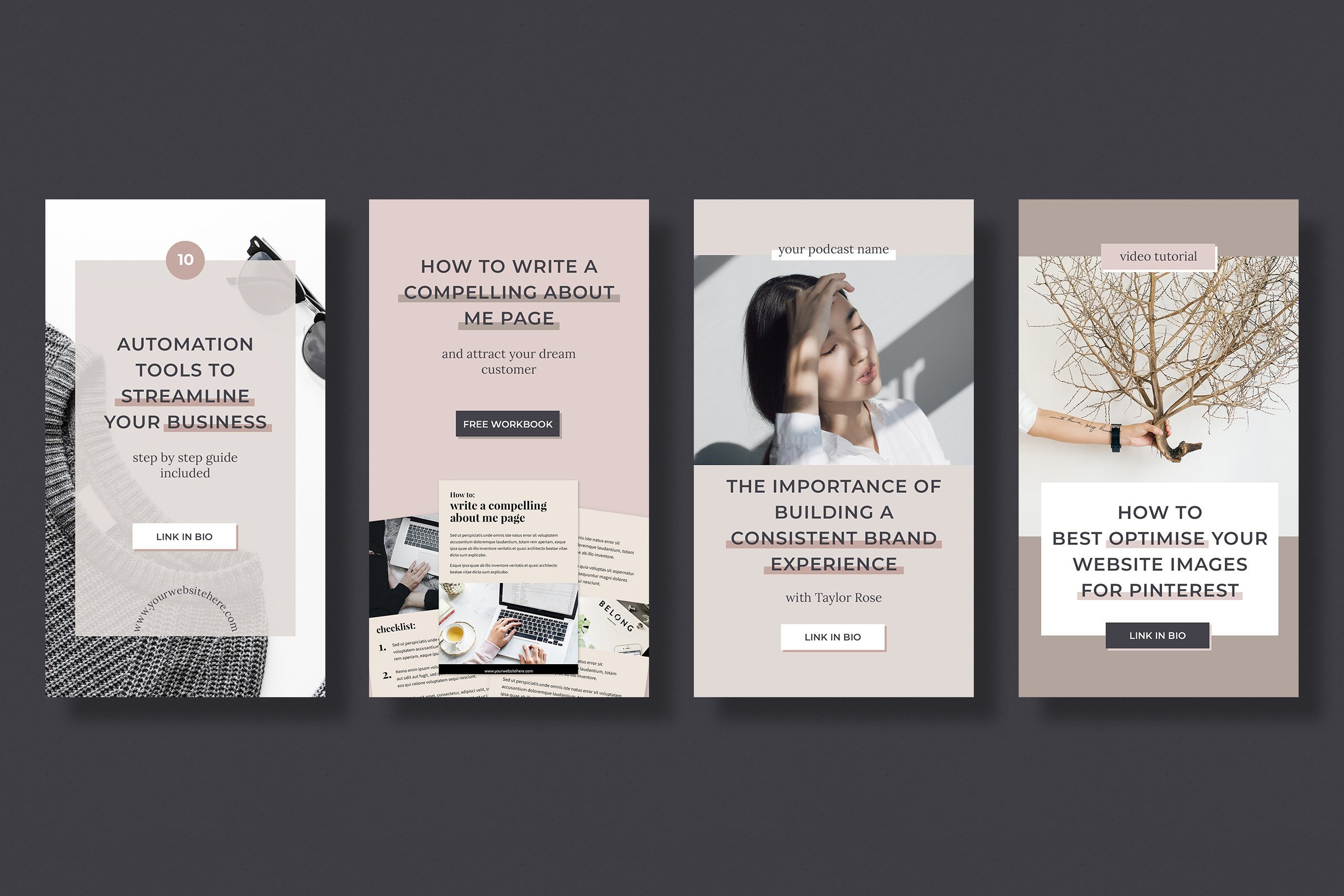 Instagram stories template pack for bloggers example image 3