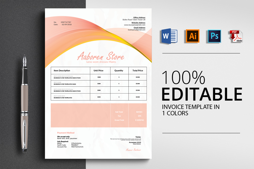 Invoice Template example image 1