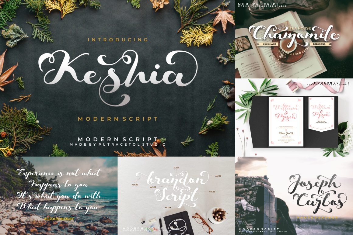 Best Crafting Font Bundles! 126 Fonts ! example image 23