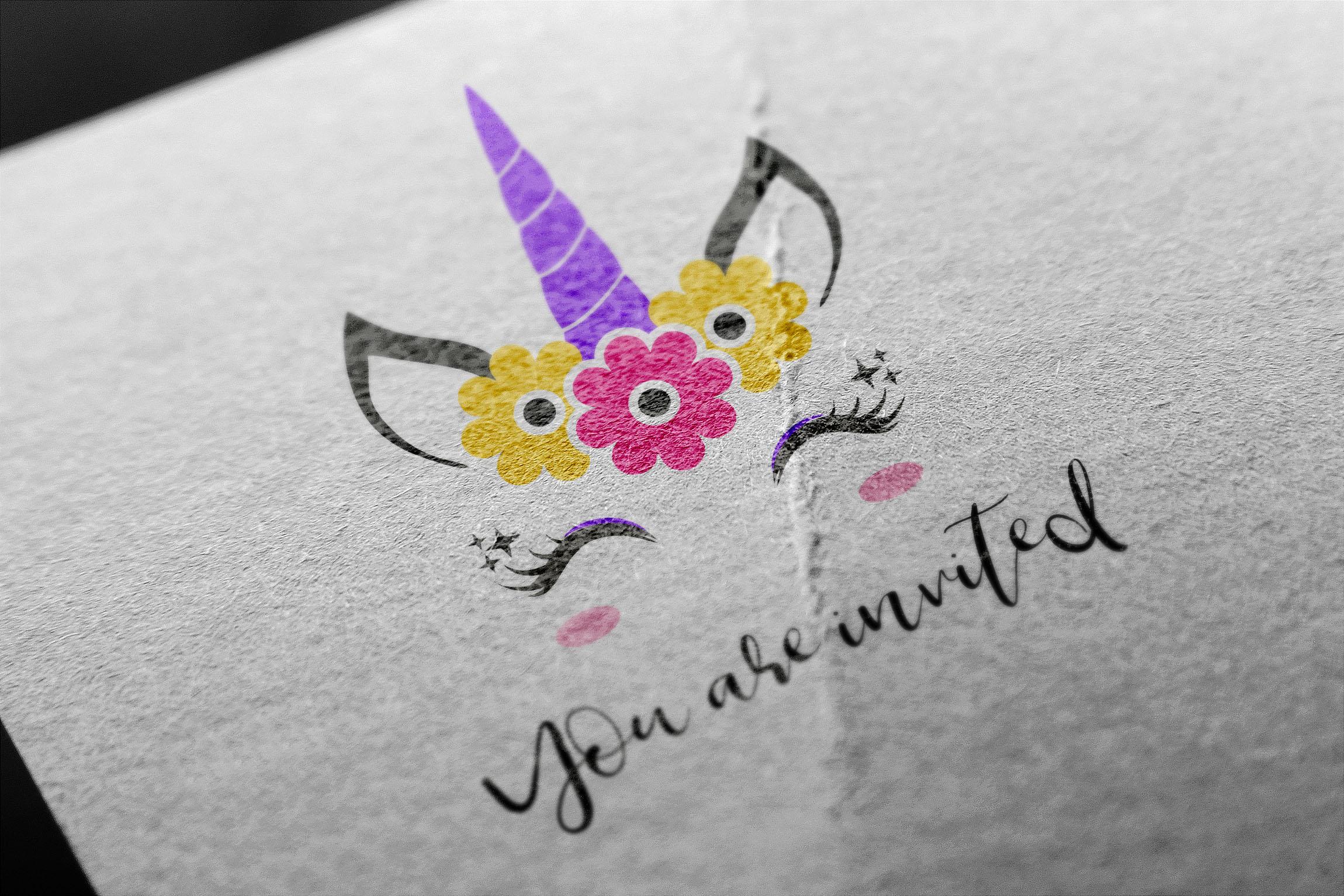 Unicorn svg, unicorn face svg, licorne, unicorn face clipart example image 5