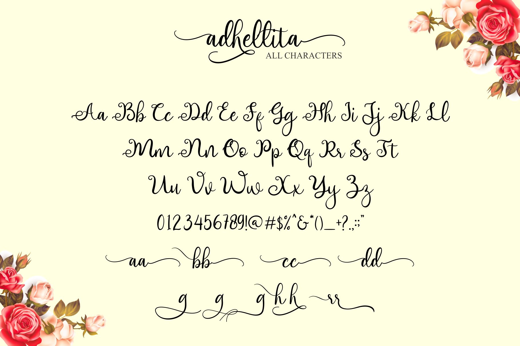 adhellita Lovely Script example image 7